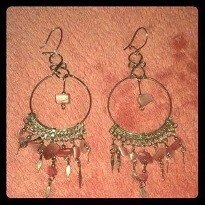Jewelry - Pink Stone Dangling Dreamcatcher Earrings